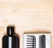 Cura di capelli e fondo di designazione Immagine Stock