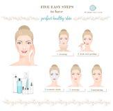 Cura di pelle della donna infographic Vettore Immagine Stock Libera da Diritti