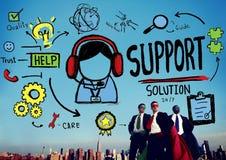 Cura di qualità di aiuto di consiglio della soluzione di sostegno Team Concept Fotografie Stock
