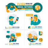 Cura Infographics della famiglia della rete sociale Fotografia Stock Libera da Diritti