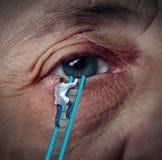 Cura medica dell'occhio Immagine Stock