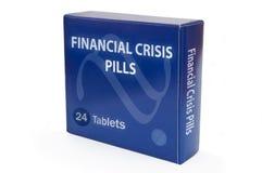 Cura para a crise financeira Imagens de Stock