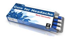 Cura para a dor de cabeça - bloco dos comprimidos Fotografia de Stock Royalty Free
