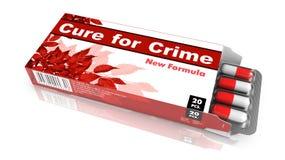 Cura para o crime - tabuletas do bloco de bolha Imagens de Stock Royalty Free