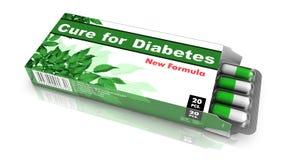 Cura para o diabetes - bloco dos comprimidos Fotografia de Stock Royalty Free
