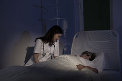 Cura per il paziente malato terminale Immagini Stock Libere da Diritti