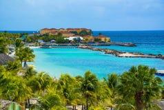 Curacao ö, karibiskt hav Royaltyfri Fotografi