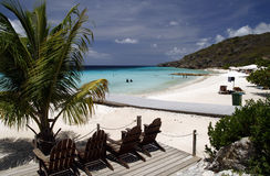 пристаньте курорт к берегу рая curacao Стоковое Изображение