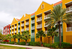 Curacao. Renaissance hotel at willemstad- curacao royalty free stock photos