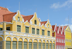 Curacao. Colorful houses, architecture of Curacao stock image