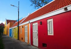 Curacao. Colorful street in willemstad-Curacao royalty free stock photo