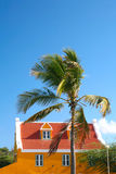 Curacao. Typical dutch style house in willemstad on curacao stock photo