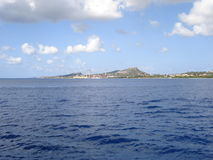 Curacao. Approache to Curacao from the sea Royalty Free Stock Photos