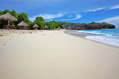 Curacao beach. Beautiful landscape on the caribbean island, Curacao stock image