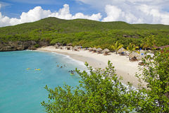 Curacao beach. View of the beautiful Knip beach on Curacao stock images