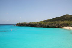 Curacao Knip beach. View on Grande Kenepa beach of Curacao royalty free stock image