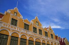 Curacao. Beautiful architecture in Willemstadt, Curacao royalty free stock image
