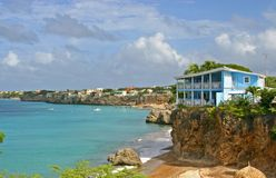 Curacao Cliff Dwelling Royalty Free Stock Images