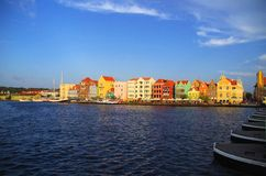 Curacao. Colorful houses of Willemstad in Curacao, Netherlands Antilles stock photo