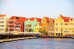 Curacao. Colorful houses of Willemstad in Curacao, Netherlands Antilles royalty free stock image