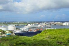 Curacao, de Caraïben, Haven royalty-vrije stock afbeeldingen