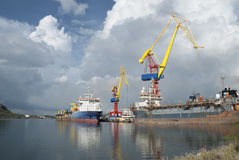 Curacao Drydock Stock Images
