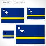 Curacao flag template Royalty Free Stock Image