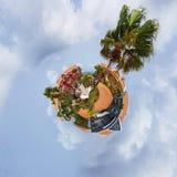 Curacao het paradijseiland van de Palm Beachtoevlucht royalty-vrije stock foto's