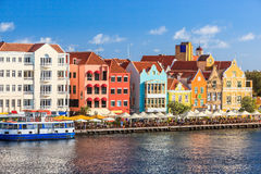 Curacao, Netherlands Antilles. Colorful houses of Willemstad in Curacao, Netherlands Antilles royalty free stock photography