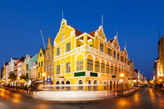 Curacao, Netherlands Antilles. Downtown Willemstad at twilight. Curacao, Netherlands Antilles royalty free stock photo
