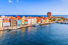 Curacao, Netherlands Antilles. View of downtown Willemstad. Curacao, Netherlands Antilles royalty free stock photography