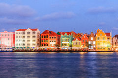 Curacao, Netherlands Antilles. View of downtown Willemstad at twilight. Curacao, Netherlands Antilles Stock Photo