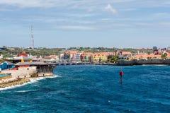 Curacao och pontonbro Arkivbilder