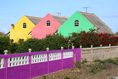Curacao: Pastel coloured houses. Pastel coloured houses in Curacao stock photo