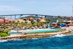 Curacao Resort and Bridge Royalty Free Stock Image