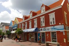 Curacao shopping street stock photos