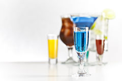 Curacao shot drink Royalty Free Stock Photo