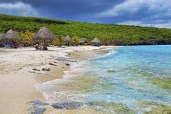 Curacao strand stock afbeeldingen