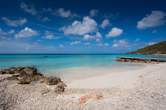 Curacao. Tropical beach with crystal clear water blue. Photo taken in the island of Curacao royalty free stock images