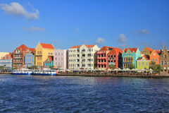 Curacao UNESCO houses Royalty Free Stock Image
