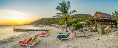 Curacao van het PortoMarirstrand meningen stock fotografie