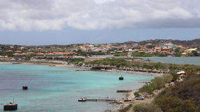 Curacao. Willemstad seen from an old fort in Curacao Royalty Free Stock Photography