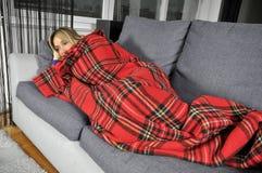 Curando a gripe Fotografia de Stock