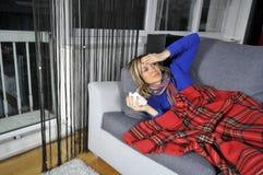 Curando a gripe imagens de stock royalty free