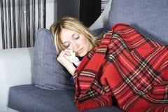 Curando a gripe fotografia de stock royalty free