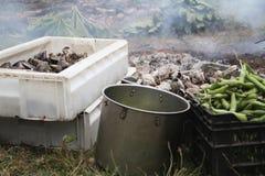 Curanto, nourriture typique de Chiloe, Chili Image libre de droits