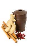 Curatieve thee met kruiden Royalty-vrije Stock Afbeelding
