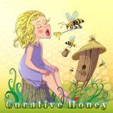 Curative honey Royalty Free Stock Image