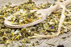 Curative natural herbal tea Royalty Free Stock Photos