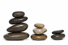 Curative stones in balance. Royalty Free Stock Image